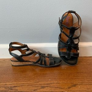 Indigo Clarks black gladiator style sandals